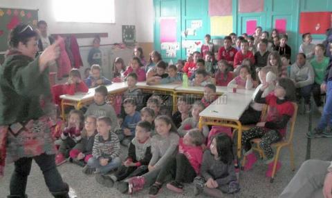 Lida Varvarousi visit the Primary School of Kalo Chorio – Agios Nikolaos Crete