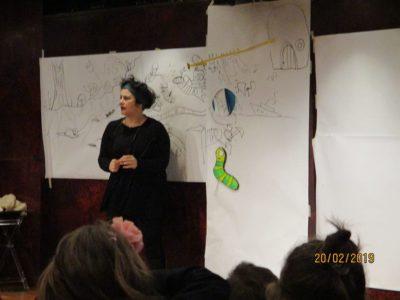 Ζωγραφήγηση στο Ίδρυμα Θεοχαράκη για το σχολείο Εκπαιδευτική Αναγέννηση_2019